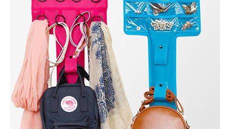 Závěsný organizér na šperky, šátky a kabelky