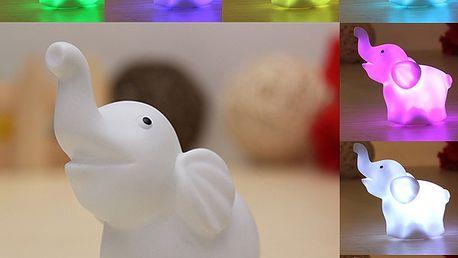 LED lampička v podobě sloníka