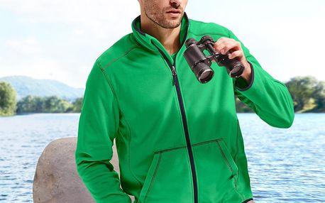 Tchibo, Pánská fleecová bunda, zelená M