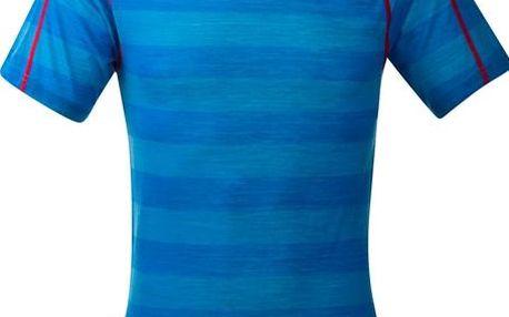 Funkční tričko Bergans Soleie Tee krátký rukáv sea blue striped XL