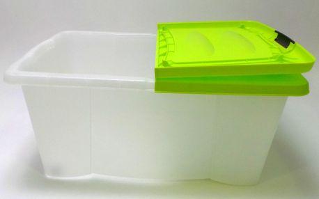 Úložný box s víkem Kaiserhoff, zelený, 39 l
