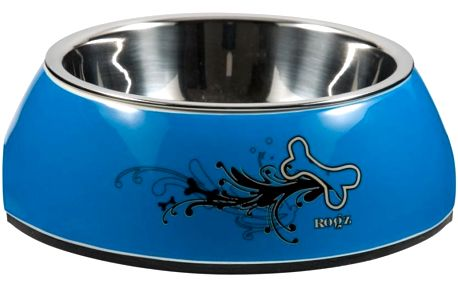 ROGZ BOWLZ Bubble miska L Turquoise Chrome 700 ml