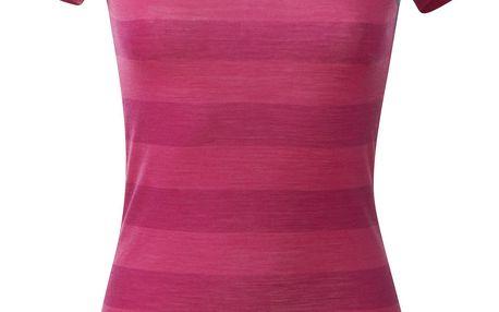 Bergans Soleie Lady Tee krátký rukáv hot pink striped L