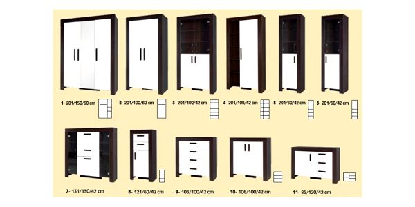 Obývací stěna STRAKOŠ C-012