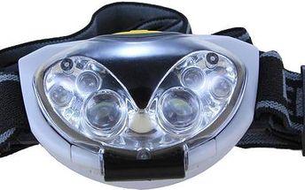 6 LED diodová čelovka na 3x AAA baterie
