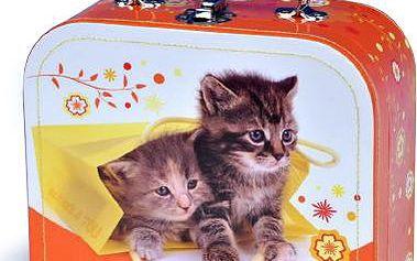 Kufr Koťata, šitý, 20 x 15 x 8,5 cm
