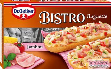 Dr. Oetker Dr. Oetker Bistro Baguette se šunkou a sýrem hluboce zmrazená 2 x 125g