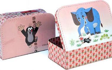 Kufr Krtek a slon, šitý, 30 x 21 x 9,5 cm