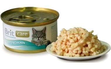 Brit Care Cat konzerva Kitten Chicken 80 g