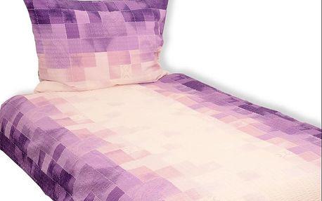 Stanex Povlečení krep 140x200 cm Mozaika fialová vzor 32
