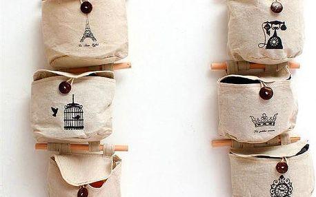Závěsná kapsa na zeď - různé motivy