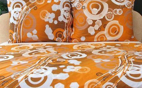 Stanex Povlečení krep 140x200 cm Mimosa oranžová vzor 65