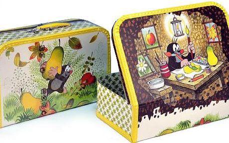 Kufr Krtek a hruška, šitý, 35 x 23 x 10,5 cm
