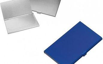 Kovový vizitkář - modrý