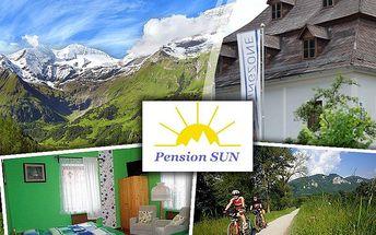Pobyt pro dva na 3 dny v Rakouských Alpách v českém penzionu Sun se snídaní, půjčení kol zdarma!