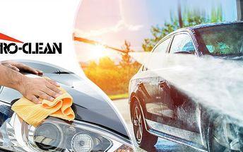 Ruční mytí vozu! Určeno pro vozy osobní, combi, SUV i dodávkové! Možnost i s ochranou laku!