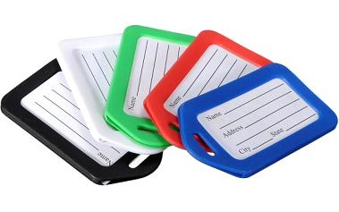 Jmenovky na zavazadlo - na výběr z pěti barev