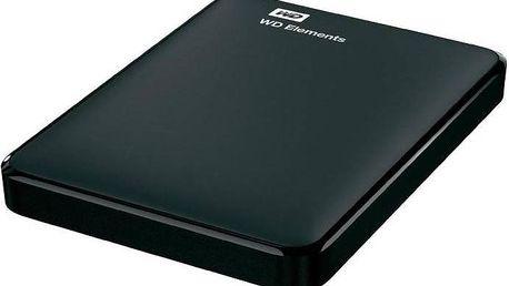 Western Digital Elements Portable 1TB (WDBUZG0010BBK-EESN) černý + + Pouzdro na HDD WD My Passport, černý v hodnotě 99 Kč jako dárek + Doprava zdarma