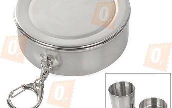 Nerezový skládací outdoor pohárek - 250 ml