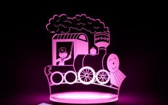 Dětské LED noční světýlko Aloka Train - doprava zdarma!
