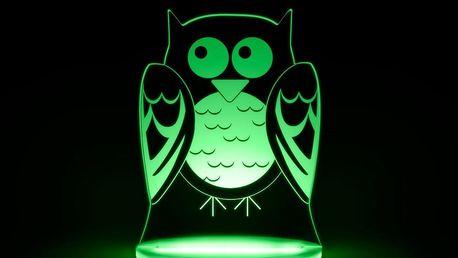 Dětské LED noční světýlko Aloka Owl - doprava zdarma!