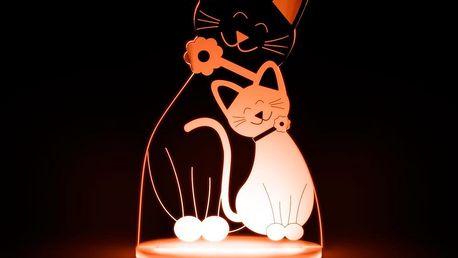Dětské LED noční světýlko Aloka Cat - doprava zdarma!