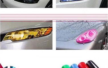 Dekorační lepící folie na světlomety - 5 barev