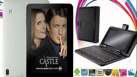 4jádrový 9palcový tablet s Androidem 4.4. KITKAT, HDMI, 8 GB, BLUETOOTH včetně obalu s klávesnicí
