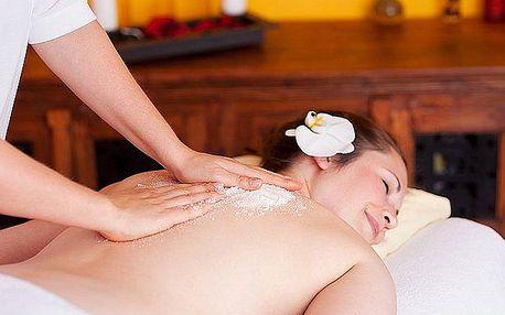 Peelingová masáž celého těla citronovým cukrovým scrublem