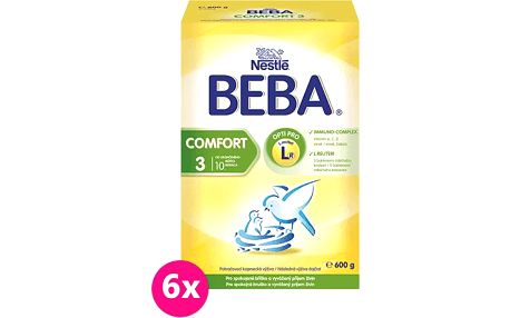 6x Nestlé BEBA COMFORT 3 (600g)