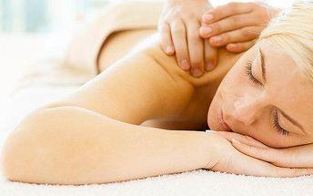 60minutová zdravotní masáž proti bolesti zad