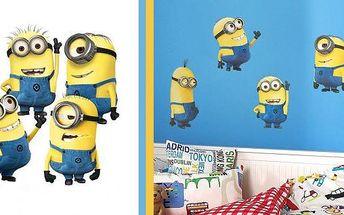 Populární postavičky Mimoni na vaši zeď! 5 kousků skvělých žlutých kamarádů do každého pokoje. Mimoně milují dospělí i děti!!! Manipulace se samolepkou je jednoduchá a za pár vteřin budete mít originální dekoraci hotovou!