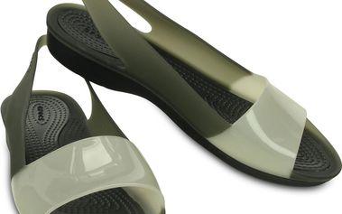 Dámské pantofle Crocs, bílo/černé