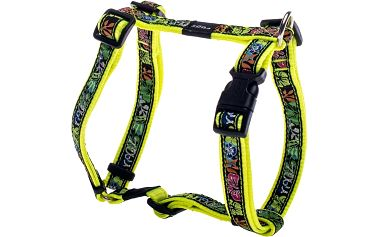 ROGZ FANCY DRESS postroj L Beach Bum Dayglo Floral