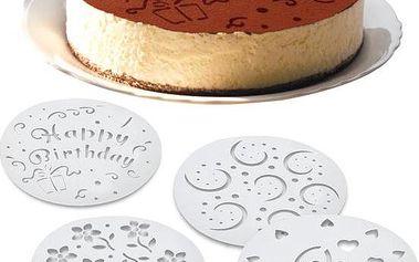 Šablony na zdobení dortu 4 ks!