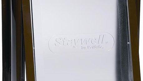 Staywell dvířka hnědá s transparentním flapem 730
