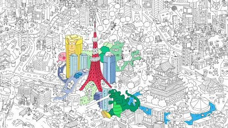 Omalovánka Tokyo XXL (180 x 100 cm)