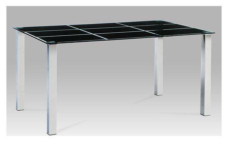 Jídelní stůl AT-1899 BK, černé sklo/chrom