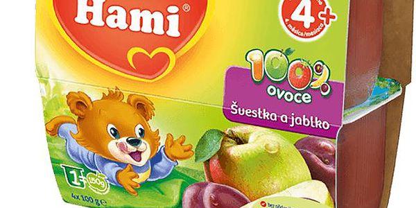 6x Hami 100% ovoce švestka a jablko 4x100g
