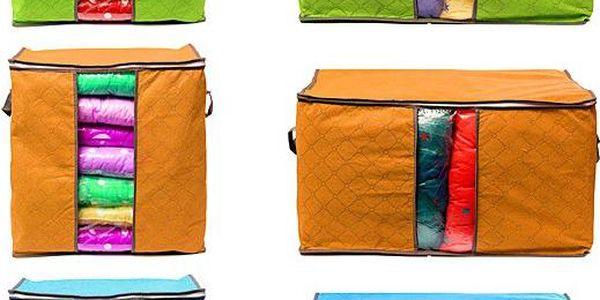 Skládací bambusový box na oblečení