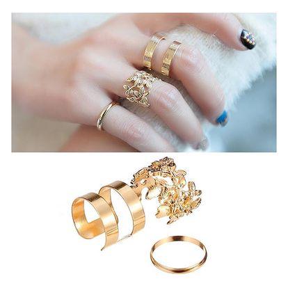 3 kusy prstýnků - dvě barvy