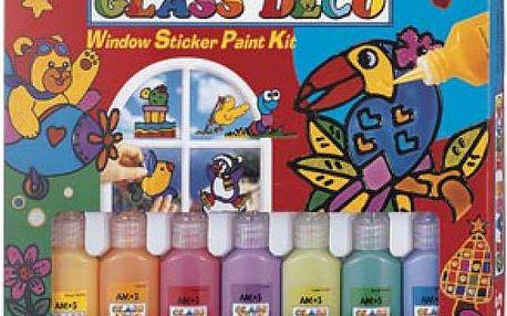 Slupovací barvičky na sklo i s šablonami! Zabavte své děti i sebe!