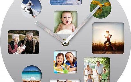Time Life Nástěnné hodiny TL-131 - stříbrná