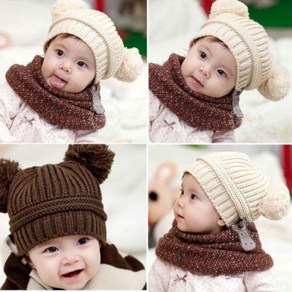 Dětská pletená čepice Bear s oušky!