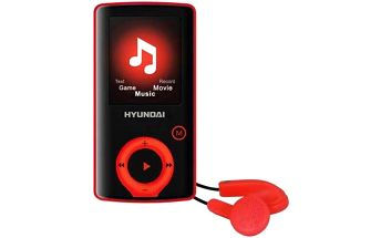 MP3 přehrávač Hyundai MPC 883 FM, 8GB černý/červený