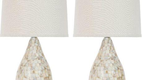 Sada 2 stolních lamp Lauralie Shell - doprava zdarma!