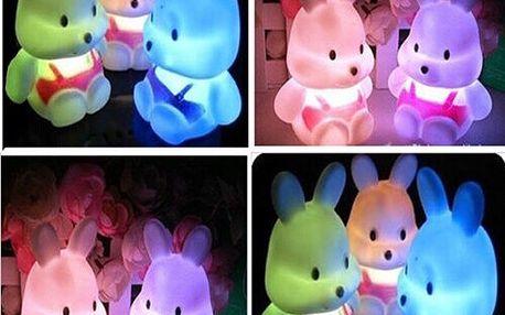 Dětská LED lampička v podobě králíčka