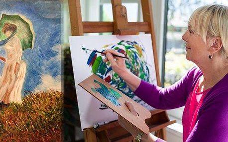Víkendové kurzy malování v Praze, jednodenní workshop olejomalby nebo dvoudenní kurz malby akrylovými barvami v ateliéru v centru Prahy. Určeno pro začátečníky i pokročilé – termíny o víkendech do listopadu!