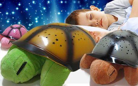 Magická hrající a svítící želva s barvou dle výběru