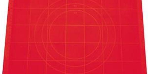 TESCOMA vál na těsto silikonový DELÍCIA 38x28 cm, červená
